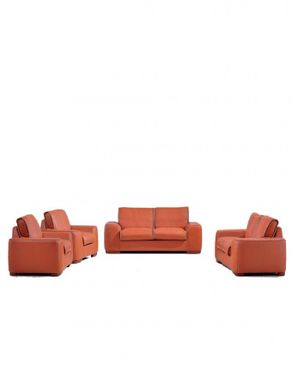 WING-HAN (Reduced Shipping Fee) 7 Sitter Elegant Animal Skin Leather Sofa-D302
