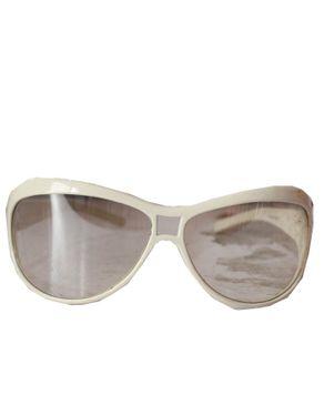Fashion Round Face Unisex Sunglasses-White