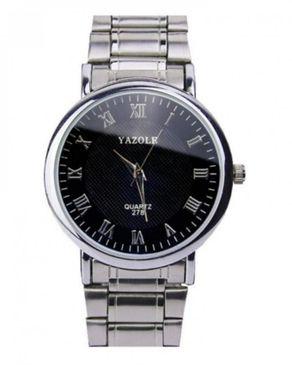 Yazole Quartz 278 Stainless Steel Watch- Silver