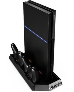 Sony PS4 2-In-1 Vertical Stand With Cooling Fan- Black