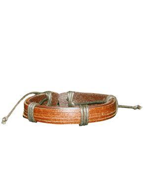 Sunflower Leather Unisex Bracelet (Brown)