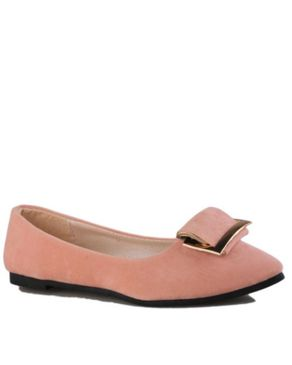 Yalun Chic Suede Flat Shoe - Pink