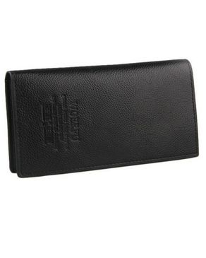 WOERFU Long Unisex Leather Wallet - Black