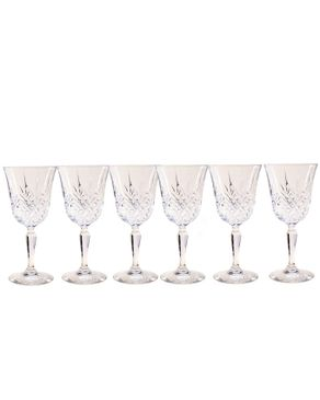 Cristal D'arques 6 Piece Masquerade Cristal Wine Glass Cup