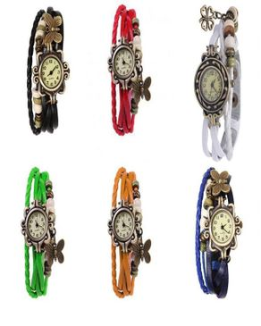 Vintage Cow Leather 6 in 1 WristWatch