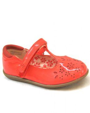 TU Girls Mary Jane Shoe- Red