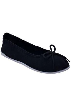 SPORT Womens Flat Shoe- Black