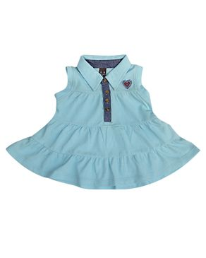 Zara Kids Baby Girls Pleated Dress With Heart Crest