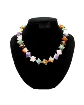 Team Star Studded Beaded Jewelry Necklace- Multi