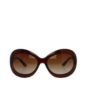 Fashion Round-Face Designer Unisex Sunglasses-Brown