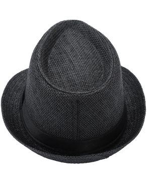 Fashion Unisex Fedora Hat Beach Sunhat Black