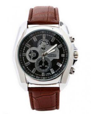 Zhong YI Quartz Mens Leather Wrist watch-Brown