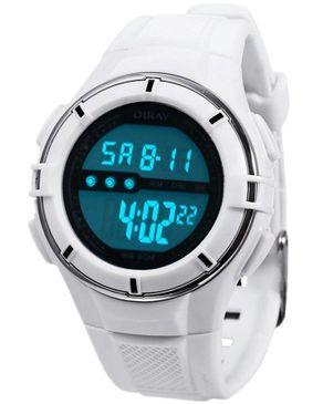 Diray Kids LED Digital Watch Date Display Waterproof - White