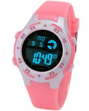 Diray Children Digital Watch LED Alarm Display - Light Pink