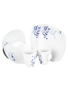 Emel 6-Piece Porcelain Square Dinner Set