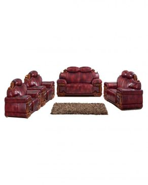 WING-HAN (Reduced Shipping Fee) Elegant Animal Skin Leather Sofa - B628