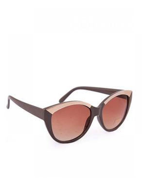 New Religion The Metal Topper Rectangular Browline Sunglasses - Brown