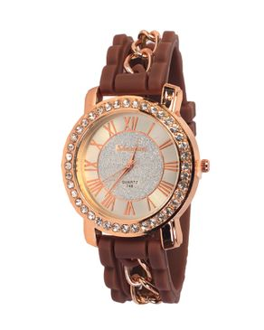 Universal shangmei Classic Weave Hand Designed WristWatch - Brown