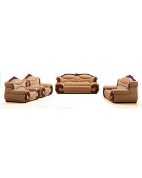 WING-HAN (Reduced Shipping Fee) 7 Sitter Elegant Animal Skin Leather Sofa - B601