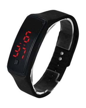Universal Unisex Black Dial LED Smart Watch