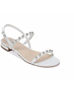 Vince Camuto Hopper Ball Stud Flat Sandals - New Ivory