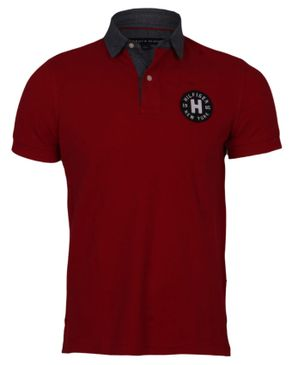 a62e1fed Tommy Hilfiger Mens Polo Shirt - Red - Price Comparison & Online ...