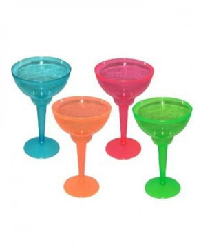 Cool gear 4pcs Hard Plastic Cocktail Margarita Glass Shot Cup - Multicolour