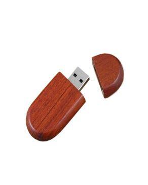 Universal Pebble 16GB Flash Drive - Mahogany