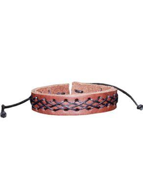 Sunflower Leather Unisex Bracelet - Brown