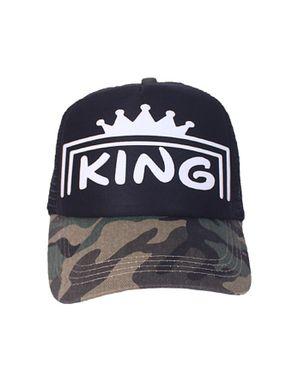 Fashion Unisex Kings Cap - Black