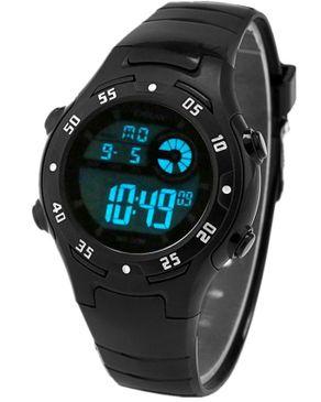Diray Children Digital Watch LED Alarm Display - Black