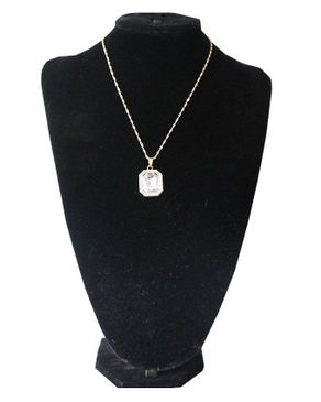 Fashion Unisex Necklace With Pendant - Gold