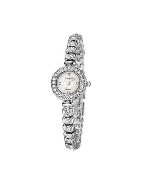 Yaqin Ladies Classic Waterproof Wrist Watch - Silver