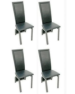 Multi Home Chrome Finished Leather Dining Chairs Set Of 4 Chairs Buy Online Jumia Nigeria