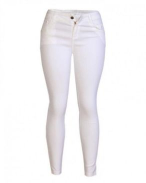 Fashion Ladies Jeans Trouser - White