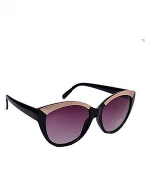 New Religion The Metal Topper Rectangular Browline Sunglasses - Black