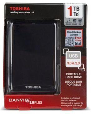 Toshiba Toshiba 1TB Canvio Basics 3.0 Portable Hard Drive - Black