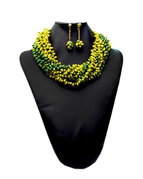 Team Twisted Beaded Jewelry - Green
