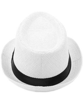 Fashion Unisex Fedora Hat Beach Sunhat [02] White
