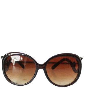 Fashion Round-Face Unisex Sunglasses-Brown