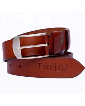 Timaro James Collection Unisex Belt - Tan