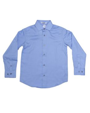 Plain Long Sleeve Shirt - Blue