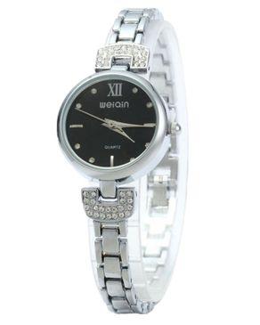 WeiQin Ladies Quartz Shell Dial Watch Black