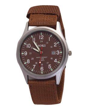 Soki Unisex Quartz Wristwatch Date Display -Brown