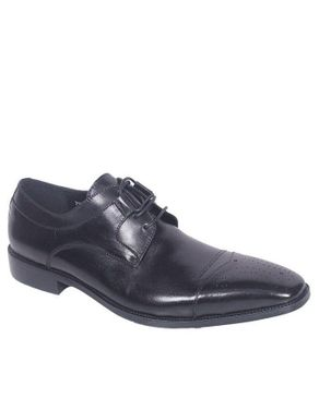 Mens Distinctively Crafted Leather Shoes - Black