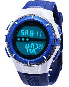 Diray Kids LED Digital Watch Date Display Waterproof - Blue