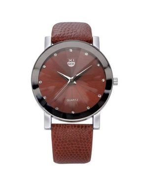 Xinew Leather Wrist Watch- Brown