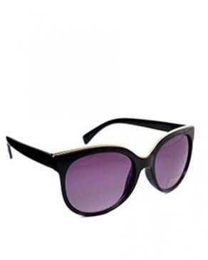 New Religion The Eagle Oval Sunglasses - Black