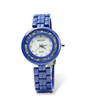 WeiQin Womens Quartz Ultra-thin Watch Ceramic -Blue