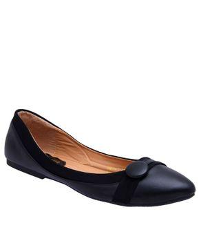 SMART LEO Smart Elegant Detailed Unique Flat Shoe Black